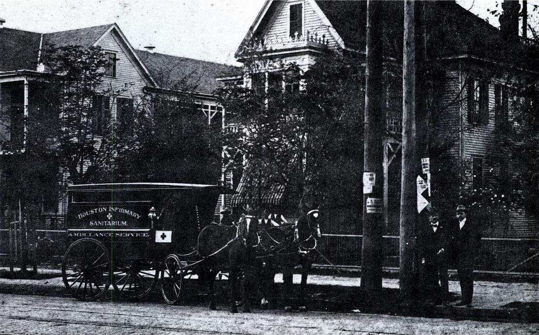 Historic picture of the Houston Infirmary